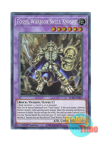 Fossil Warrior Skull Knight BLAR-EN007 Secret Rare 1st Ed